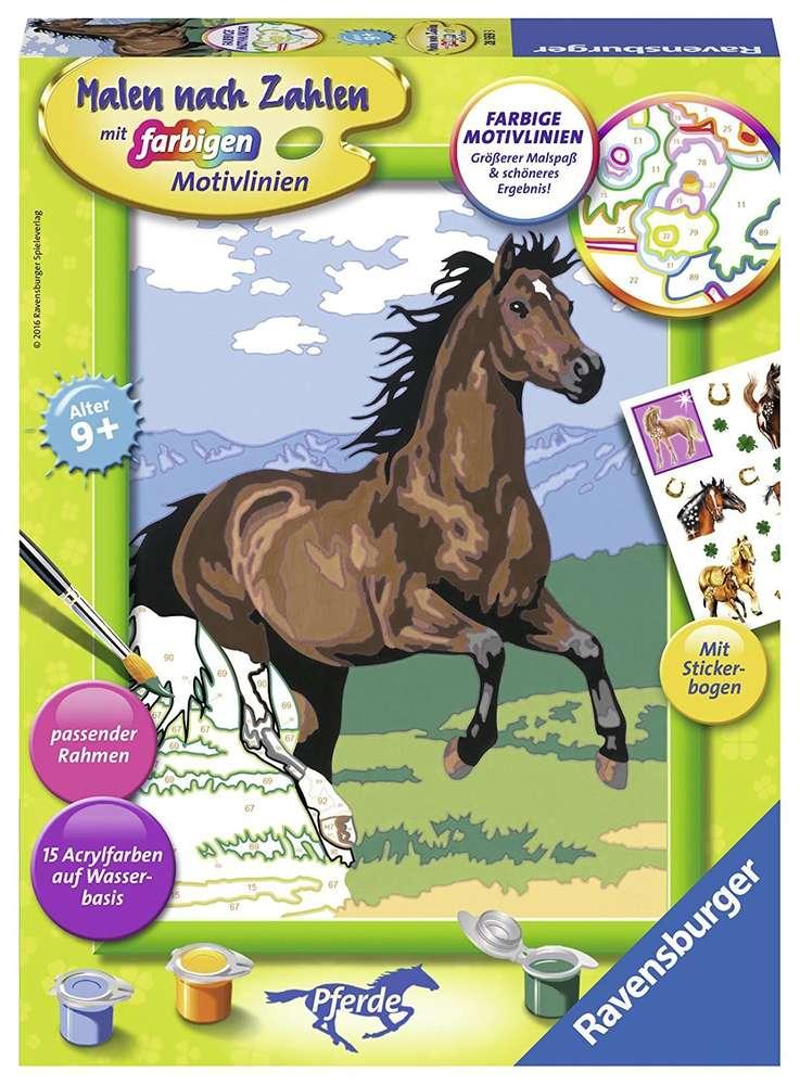 Malen Nach Zahlen Set Galoppierendes Pferd Ab 9 Jahren Ravensburger